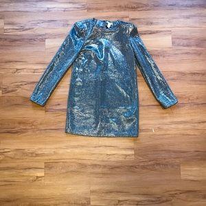 H&M silver sequins dress